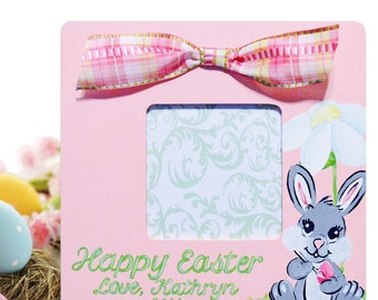 Personalized Hand Painted Animal Easter Frame