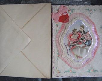Will U B My Valentine Fab Big Wife Valetines Day Card  Unused