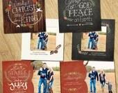 Christmas Templates - Mini Set - 6 Photoshop PSD Files - Glory to God