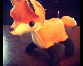 Small Fox handmade felt plushie stuffed animal
