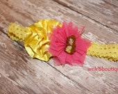 Belle Cinderellla Minnie Rapunzel Ariel Elsa Anna Boutique Headband  newborn Photography Prop or for Everyday Girls