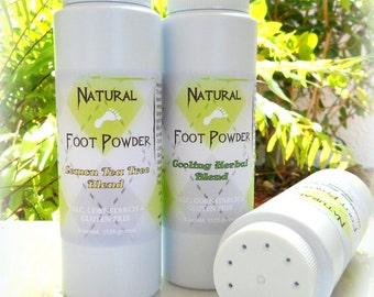 LEMON TEA TREE Foot Powder 8 oz - no talc, no cornstarch - natural essential oil blend - by Bonny Bubbles