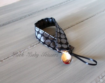 Ready to Ship Black Dots Pacifier Clip