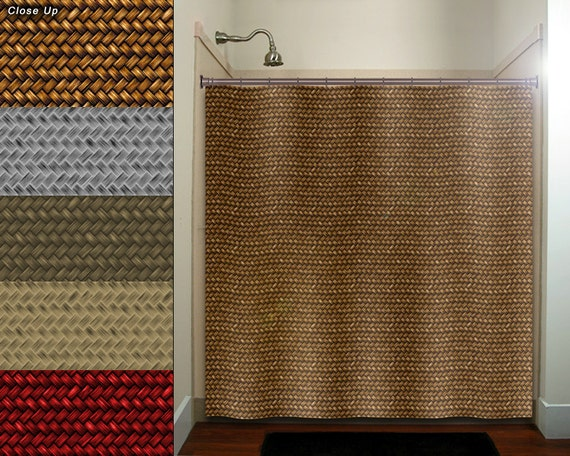 Natural Basket Weave Shower Curtain Fabric Extra Long Window