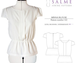 Minna blouse PDF Sewing pattern