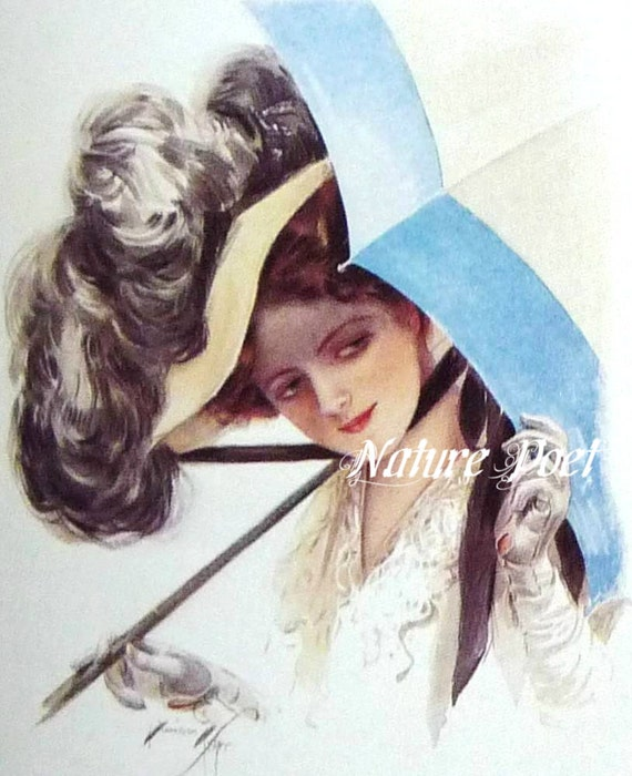 Lady with Umbrella Downloadable, Printable Digital Art Image
