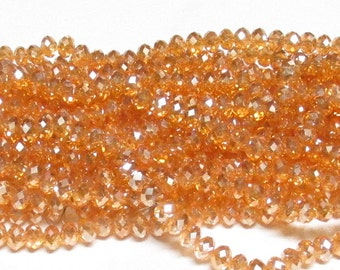 4x6mm Gold Shadow AB Faceted Crystal Rondelle Beads,4x6mm crystal,6mm crystal rondelle,4x6mm glass crystal,6mm Gold Shadow AB crystal