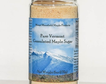 Pure Vermont Maple Granulated Sugar- 6oz Jar