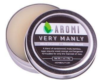 Very Manly Solid Cologne.  Manly Cologne. Man Gift. Men's Cologne.  Men's Fragrance.  Manly Gift.  Father's Day Gift.