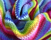 Crochet in Technicolor - Linen Baby Blanket - Third in a Series of Four - Looks Like Linen - Easy Crochet Pattern