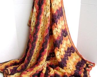 Crocheted Blanket Pattern - Bonfire Wedding Throw - Hash Tag Pattern