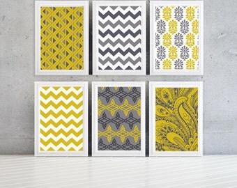 Geometric pattern wall print- 8x10 -Set of 6