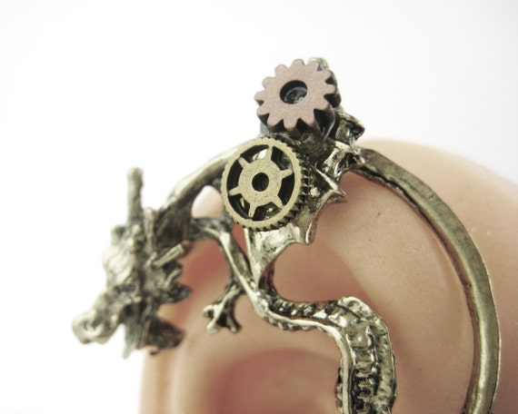 Steampunk Dragon Ear Cuff