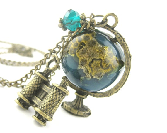 Earth Globe Necklace