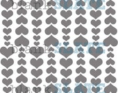 Cascading Hearts Stencil - 8x8