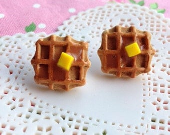 Scented Single Waffle Earrings