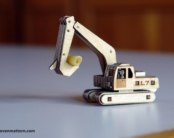 Excavator Toy Kit - Build Your Own!
