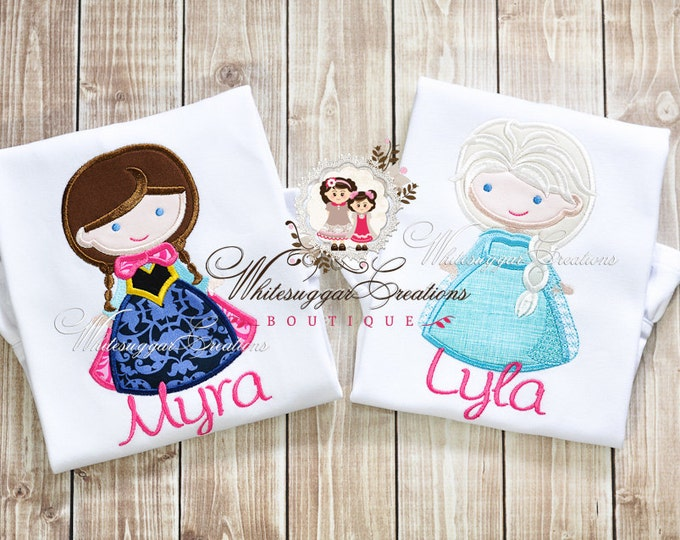 Ice Princess and Queen Shirt - Custom Snow Princess Shirt - Baby Girl Princess Outfit - Elsa and Anna