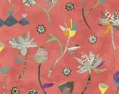Paint by Carrie Bloomston of SUCH Designs  -- Modern Paper Lotus Coral Pink Windham Fabrics