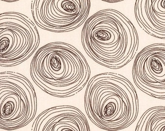 Honeycrisp Rings in Cream by Dear Stella - Sketched Tree Rings Quilt Fabric