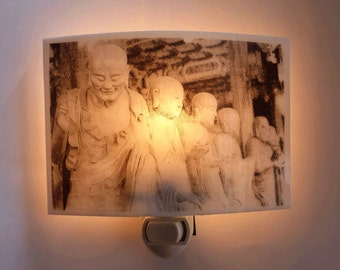 Buddha statues at  a temple - Nightlight