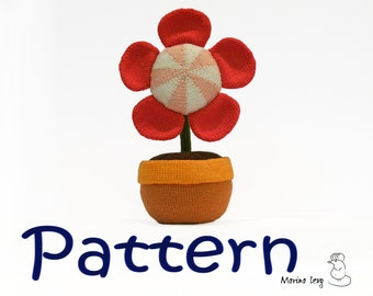 Flower in the Pot amigurumi - pattern for crocheted amigurumi / tutorial