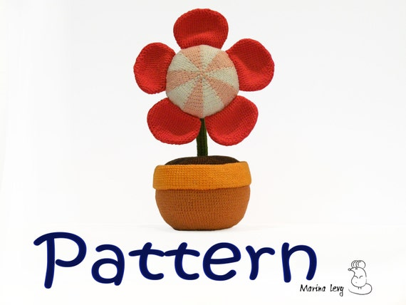 Flower in the Pot amigurumi pattern for crocheted amigurumi