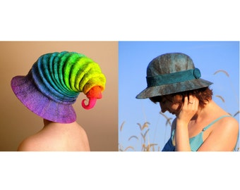 Wizard Hat Tutorial & Felted Cloche Hat Tutorial