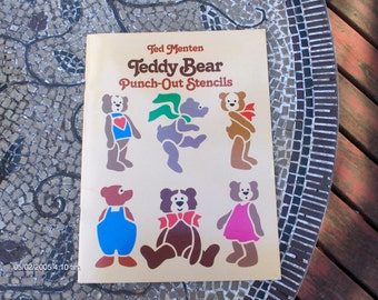 Ted Menton Teddy Bear Punch-Out-Stencils - 1985 - Great Condition