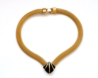 Gold mesh 80s Necklace