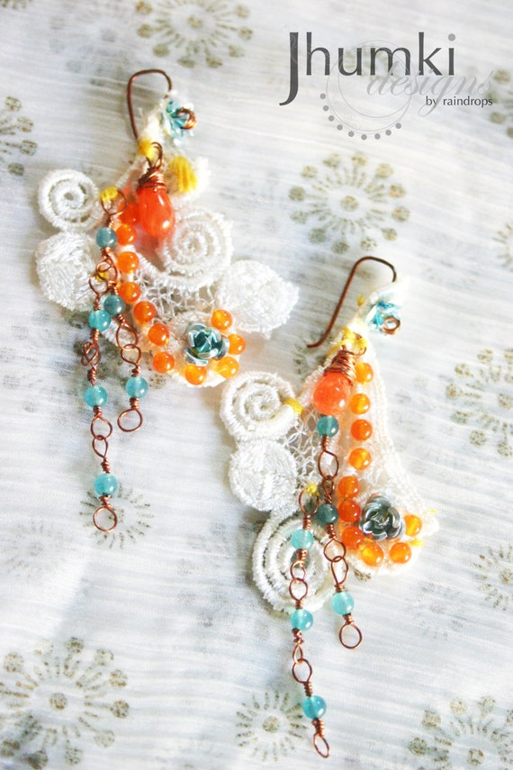 Tilottama /// earrings by Jhumki Couture designs by raindrops