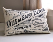 Vintage French Advertisement pillow