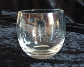 Set of (4) vintage cut  roly poly glasses