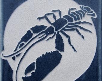 4x4 Lobster Tile Coaster - SRA