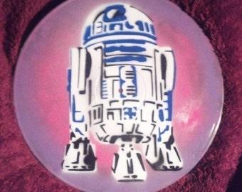 Star Wars R2-D2 Vinyl Record Painting
