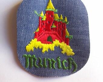 Munich  - Vintage 1970's Sewing Patch Applique