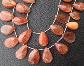 SUPER GIANT 14-16mm Long, Gorgeous Sparking Sunstone Smooth Larger Size PEAR Shape Briolettes, Great Item at Low Price