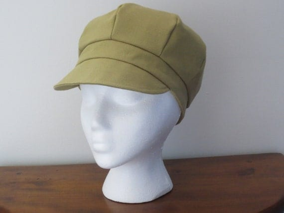 Newsboy Cap Hat Taupe Hat Taupe Cap Tan Canvas Cotton Canvas Newsboy Cap Canvas Newsboy Hat