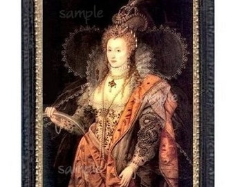 The Royal Queen Miniature Dollhouse Art Picture 6769
