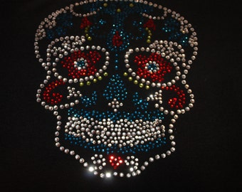 Bling Skull Shirts--Different color combos--Tons of sparkle and bling