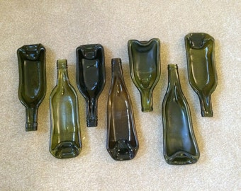 Dark Green, Brown or Black Bottle Bowl