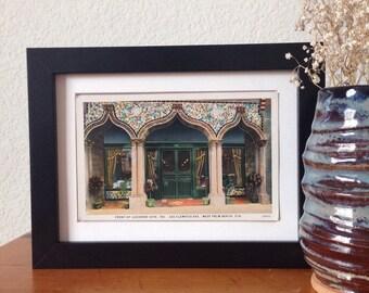 Luzianne Cafe, West Palm Beach, Florida - framed vintage postcard