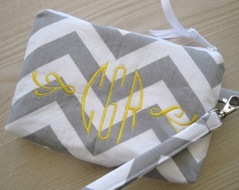 Personalized Wristlet featuring Premier Prints Chevron Pattern