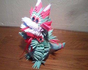 3d Origami Funny Dragon