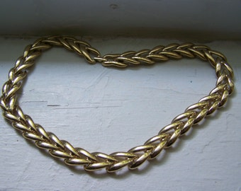 CLEARANCE Gold Link Braid Necklace