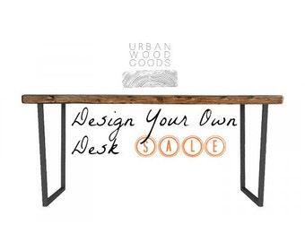 Brooklyn Modern Rustic Reclaimed Wood Desk