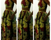 African print skirt and crop top