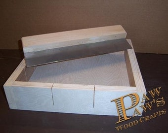 12 bar wood soap making mold with  cutter