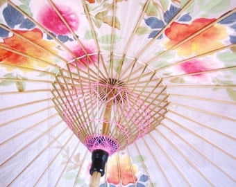Antique Japanese Parasol Bamboo Collectible Photo Prop from AllieEtCie