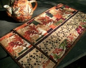 Fall Placemats Autumn Handmade Quilted Reversible Set of 2